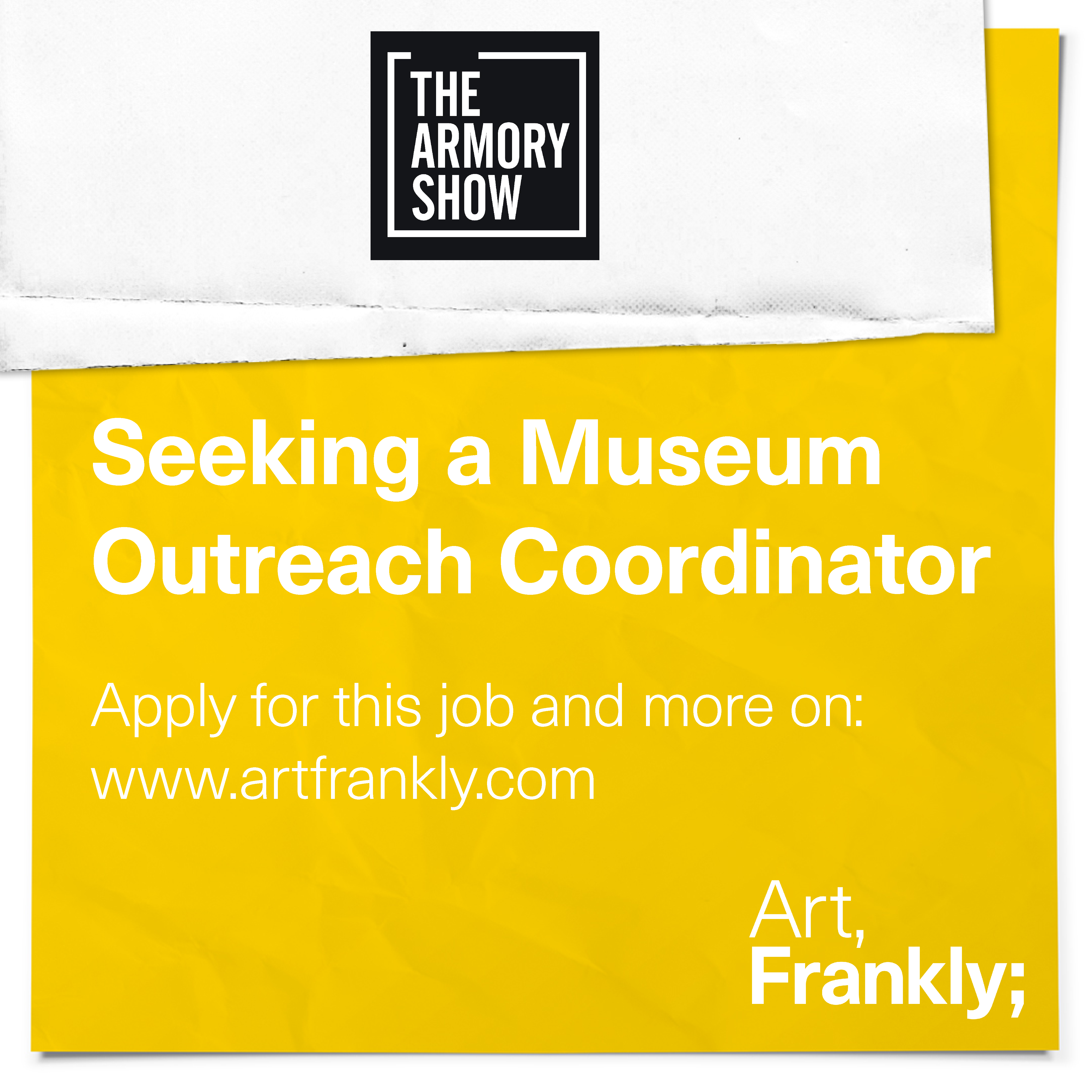 The Armory Show Museum outreach coordinator