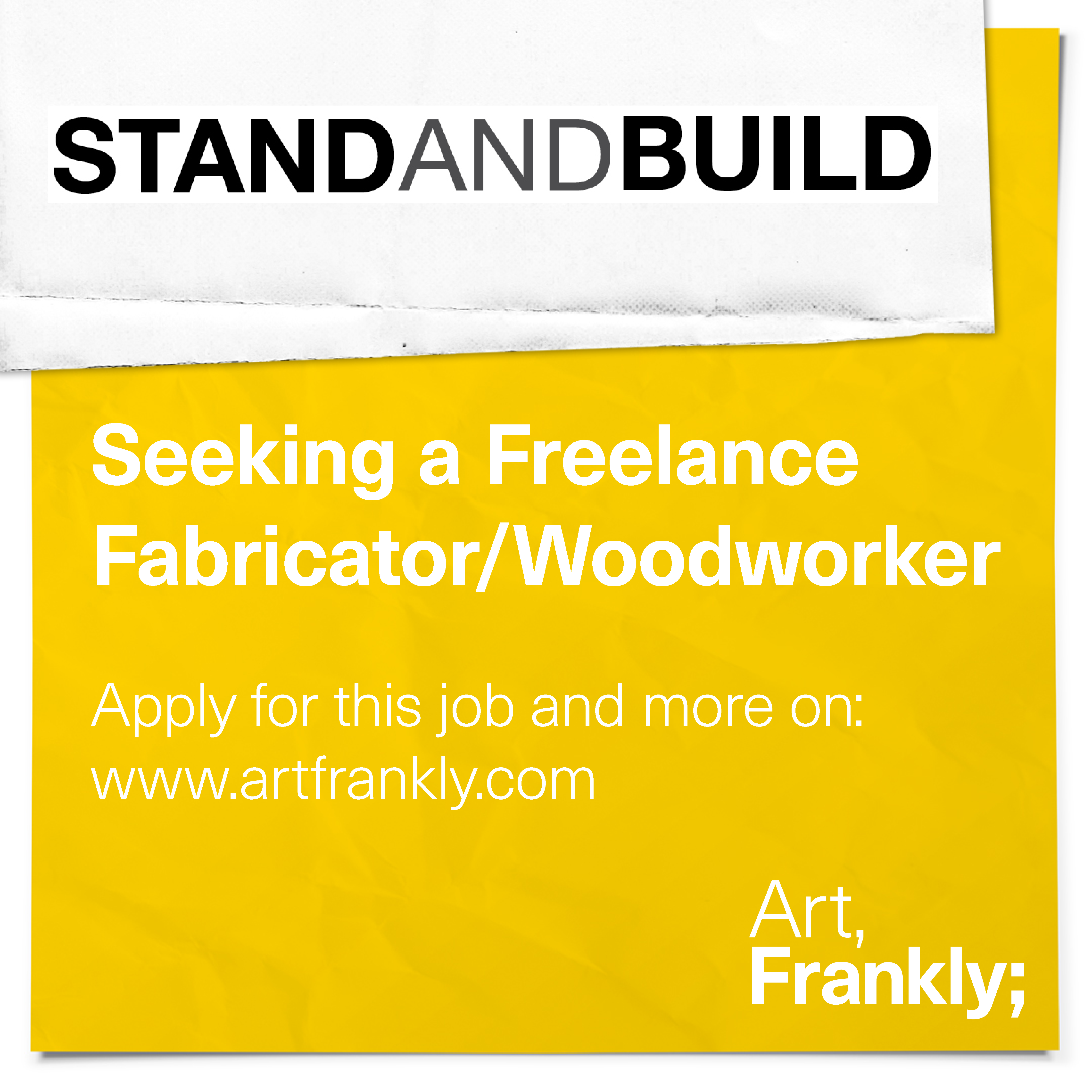 Stand and Build Freelance Fabricator/Woodworker